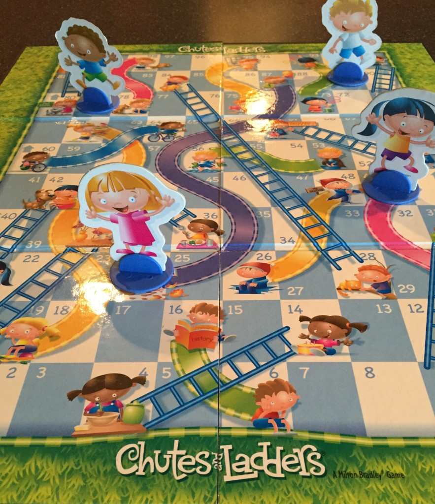 life is a bit like the game chutes and ladders positive